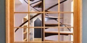 愛犬と奏でるスキップハウス 村瀬充アトリエ 螺旋階段